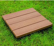 Wood Deck Tile 4 Slats