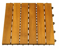 Wood Deck Tile 6 Slats
