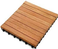Wood Deck Tile 9 Slats
